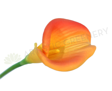 F0008ORA Calla Lily Real Touch (Half Open) 60cm Orange
