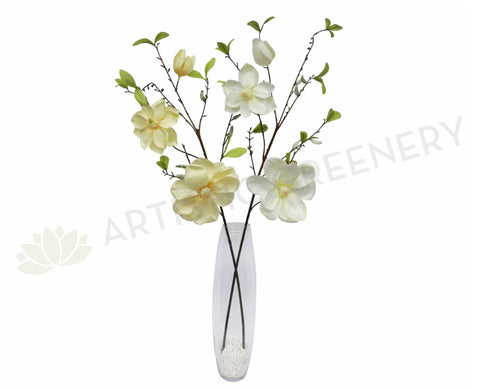 F0032 Magnolia Spray 90cm Cream / White