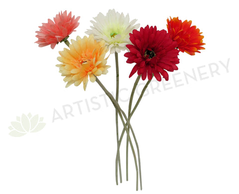 F0039(2) Gerbera Single Stem 58cm 5 colours
