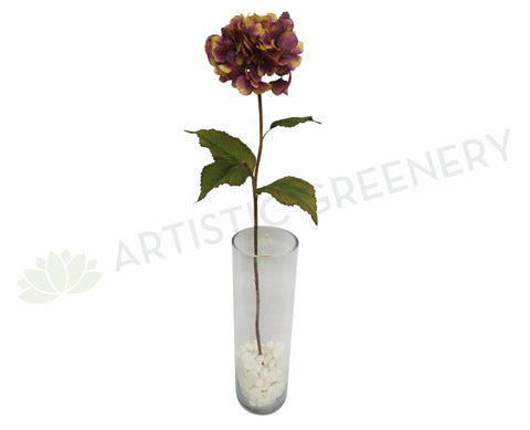 F0045 Hydrangea Single Stem 85cm Rustic Purple