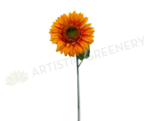 F0050 Sunflower Single Stem 80cm Yellow