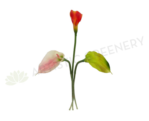 F0062 Calla Lily Single Stem Real Touch (Latex) 59cm 3 Colours
