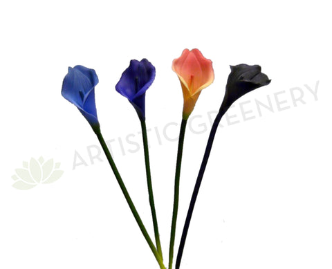 F0064 Small Calla Lily Single Stem Real Touch 36cm 4 Colours