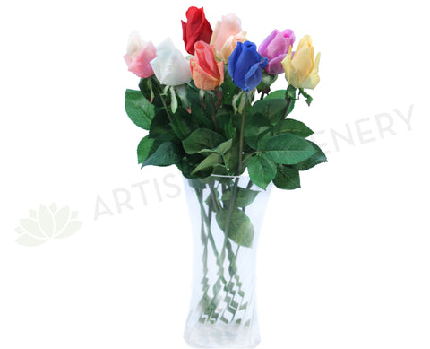 F0065 Real Touch Single Rose Bud 47cm