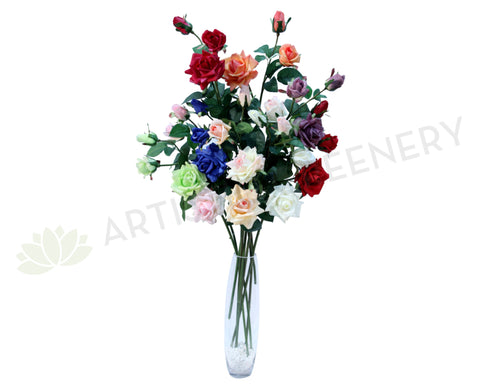 F0066 Rose Spray Real Touch 11 colours