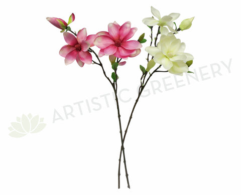 F0069 Magnolia Spray 84cm Pink / White