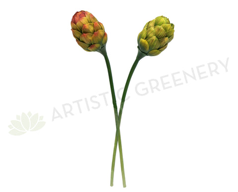 F0076 Artichoke single stem Green or Red 66cm