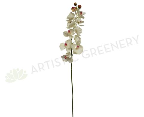 F0077 Large Phalaenopsis Orchid Spray Real Touch 137cm White