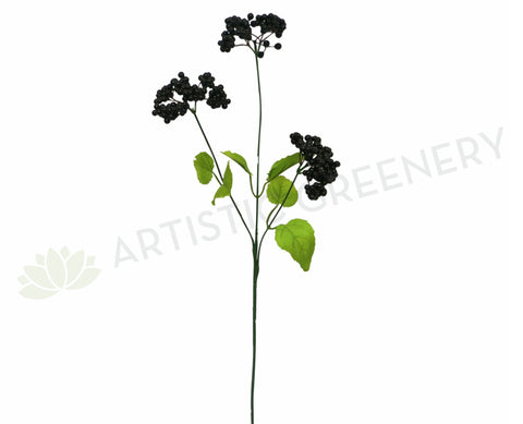 F0083 Viburnum Berry Spray 52cm Black