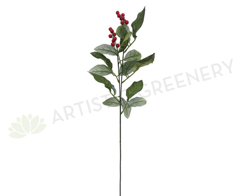 F0084 Red Berry Spray 64cm