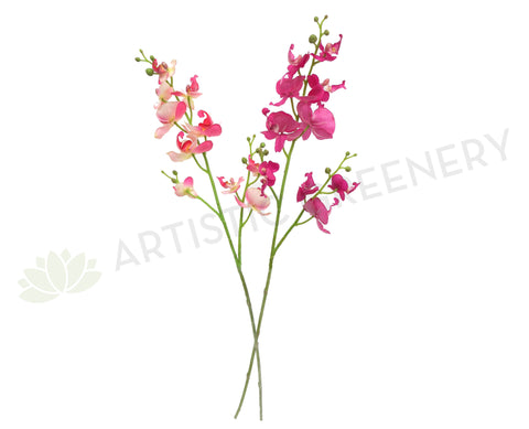 F0089NEW Small Phalaenopsis Orchid Spray Real Touch 70cm Dark Pink / Light Pink