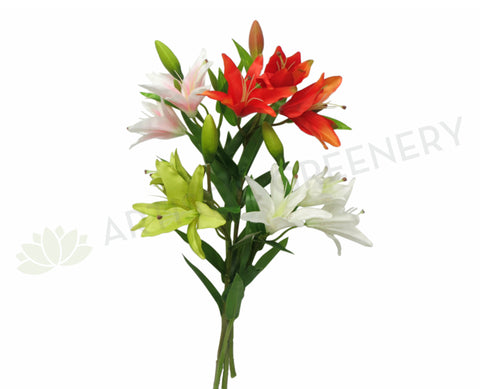 F0091 Oriental Lily Spray (Silk) 65cm 4 Colours