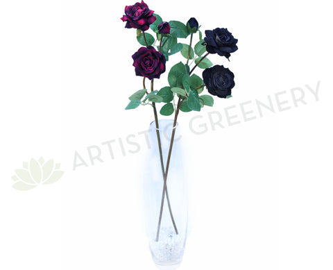 F0092 Velvet Rose Spray 68cm