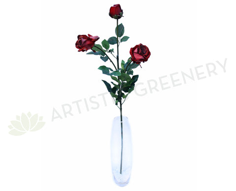 F0099 Large Burgundy Rose (Velet) 94cm