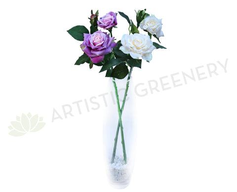 F0100 Rose Spray 60cm Cream or Purple
