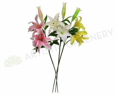 F0101 Casablanca Lily Real Touch 97cm Pink / White / Yellow