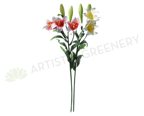 F0108 Christmas Lily Real Touch 87cm 3 Colours