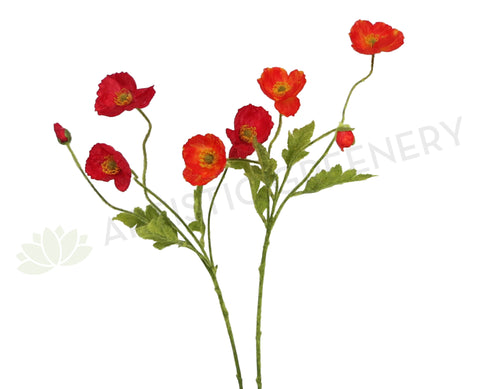 F0111 Poppy 4 heads (red or orange) 60cm $6