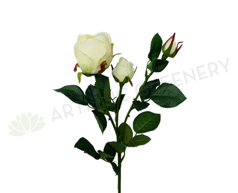 F0117N Rose Spray (Half Open) 76cm White