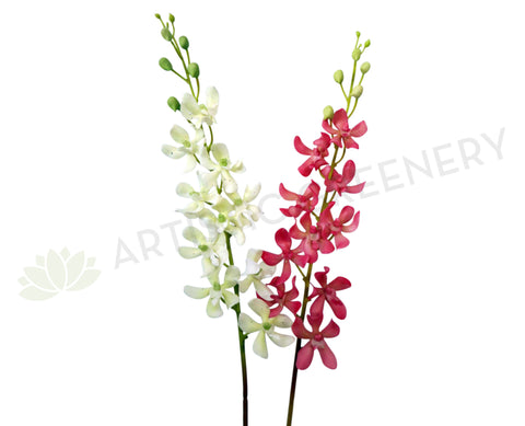 F0118 Orchid Spray Real Touch 80cm White / Pink