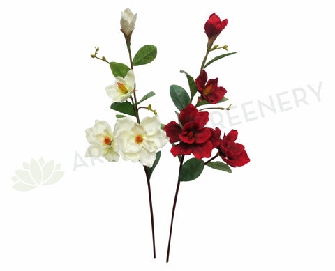 F0122 Magnolia 107cm 4 heads White Red