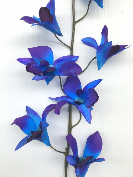 F0130 Artificial Galaxy Orchid Blue Orchid 73cm