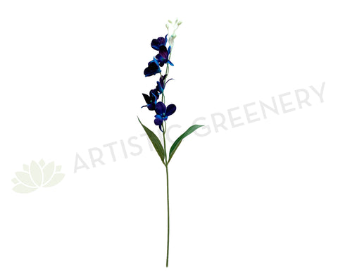 F0130BLU Blue Dendrobium Orchids / Galaxy Orchid 66cm