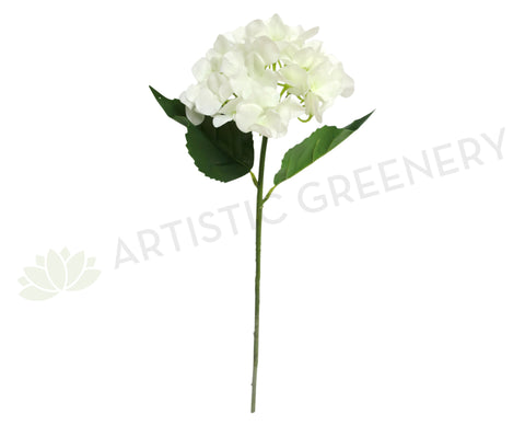 F0139 Hydrangea Single Stem Real Touch 67cm White