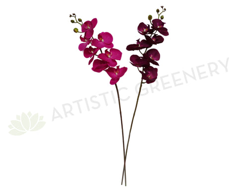 F0142 Phalaenopsis Orchid Spray Real Touch 90cm 2 Colours