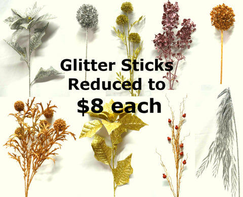 CLEARANCE - All Glitter Sticks Reduced to $8 each