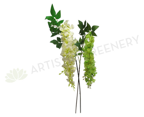 F0144 Hanging Sweetpea 92cm White or Light Green
