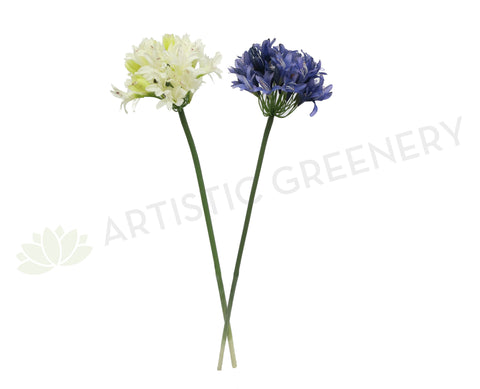 F0145 Agapanthus Stem 84cm Purple / White