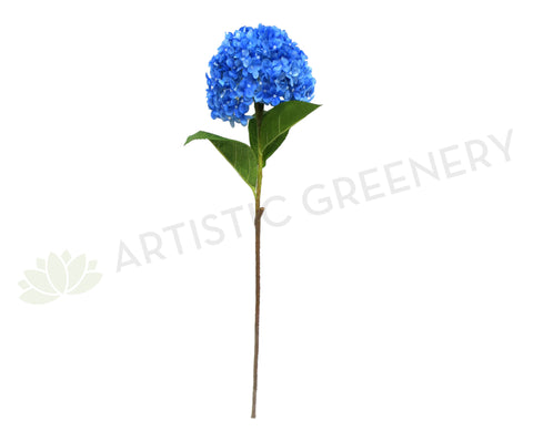 F0146 Hydrangea (Large) Single Stem  80cm Blue