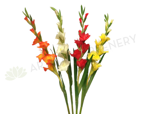 F0147 Gladiolus Real Touch 106cm 4 Colours