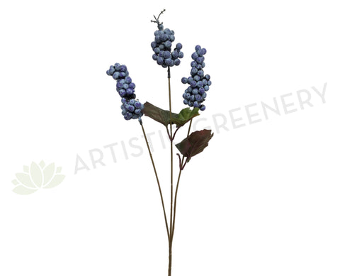 F0149 Blue Berry Spray 65cm