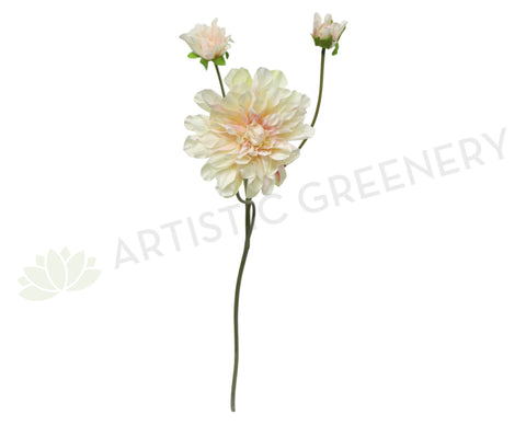 F0150 Dahlia Spray Large 75cm Light Pink / White