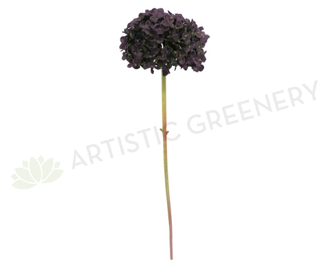 F0152 Hydrangea Single Stem 57cm Dark Purple
