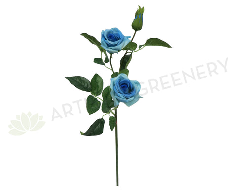 F0154 Rose Spray Real Touch 64cm Lake Blue