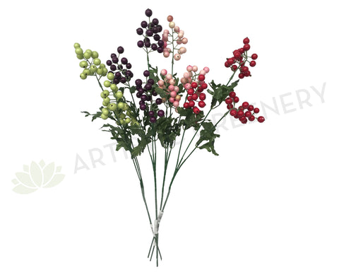 F0169 Berry Spray 60cm 4 Colours