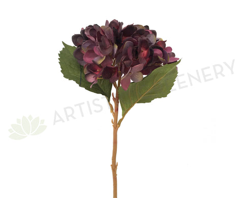 F0173 Hydrangea Single Stem 46cm Plum / Purple