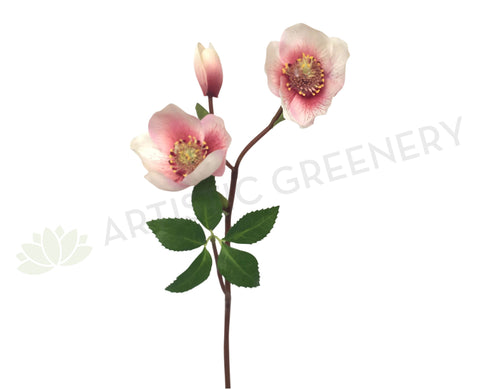 F0174 Hellebore Flower Spray 38cm Pink