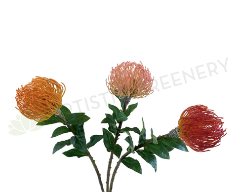 F0185 Pincushion Protea 72cm / Leucospermum  Orange / Pink / Red | ARTISTIC GREENERY