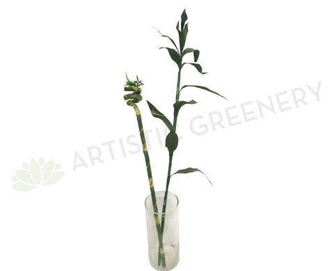 F0190A Lucky Bamboo Leaves 90cm & F0190B Spiral Lucky Bamboo 74cm
