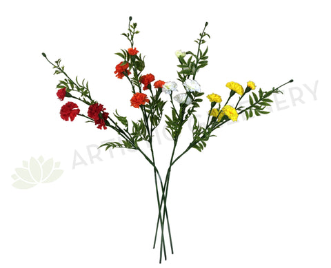 F0198 Carnation Spray 76cm 4 Colours
