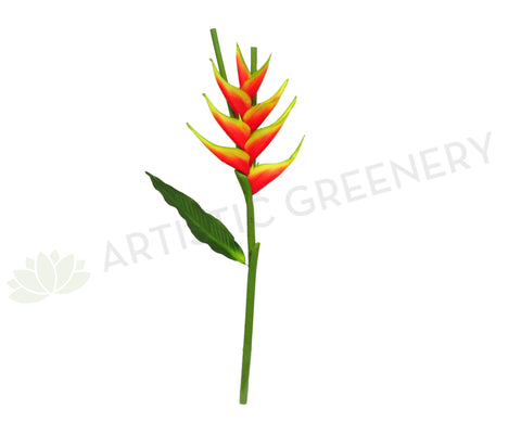 F0200 Giant Heliconia / Crab Claw Flower 96cm Flame (Tropical)