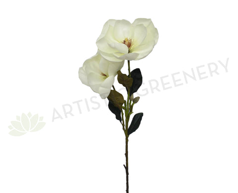 F0208 Large Magnolia Spray 98cm White