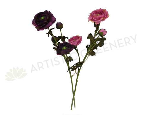 F0212 Ranunculus Spray 65cm Pink / Purple