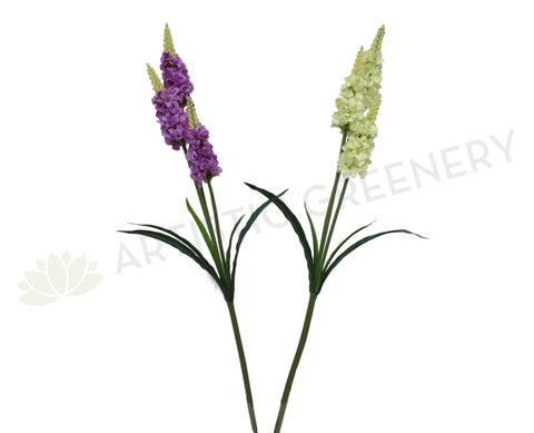 F0222 Snapdragon Spray 94cm Purple / White