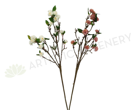 F0223 Small Chrysanthemum Spray 76cm Dusty Pink / White