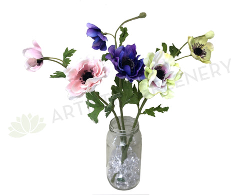 F0230 Anemone Spray 36cm 3 Colours